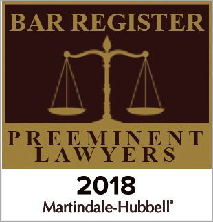 Bar Register | Preminent Lawyers 2018 | Martindale-Hubbell